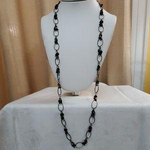 LOFT Pewter Dangle Chainlink Necklace #596